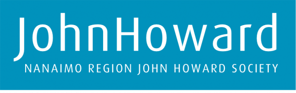 John Howard Society logo, white text on teal blue background